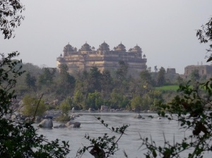 A 16th century palace over looks the Betwa River