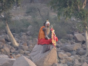 A Sadhu for morning Puja