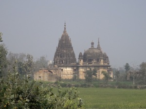 Temple ruins in the fields