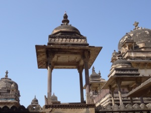 Cupolas and intricately carved sandstone jalis