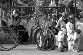 Morning gathering at Anandwan