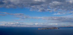View of Isla del Luna from Isla del Sol